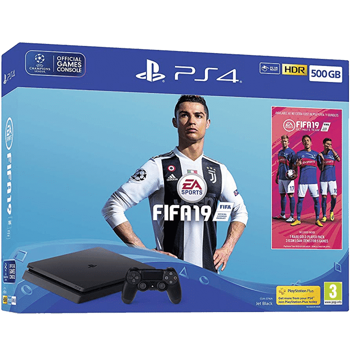 PlayStation 4 Slim 500GB+Игра FIFA 19