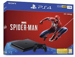 PlayStation 4 Slim 1TB + Marvel Spider-Man