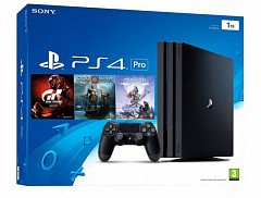 Sony Playstation 4 Pro 1TB (CUH-7216B Gran Turismo + God Of War + Horizon. Zero Dawn)