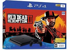 PlayStation 4 Slim 1 TB Red Dead Redemption 2 Bundle (CUH-2216B)