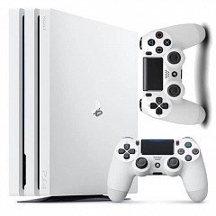 Sony Playstation 4 Pro 1TB white+джойстик