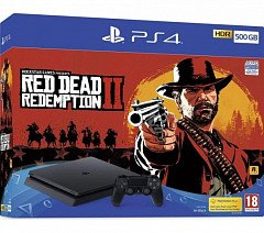 PlayStation 4 Slim 500GB+Игра Red Dead Redemption 2